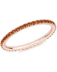 Verifine London - Orange Sapphire Full Eternity Ring In 18kt Rose Gold - Lyst