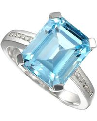Amore Argento - Rhodium Plated Sterling Silver Blue Lagoon Ring - Lyst