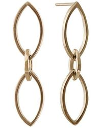 Edge Only | Marquise Slice Drop Earrings | Lyst
