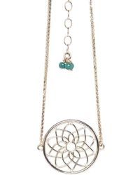 Congés - Dream Catcher Bracelet With Diamonds And Turquoise - Lyst