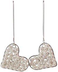 Agora Jewellery - Filigree Long Heart Earrings - Lyst