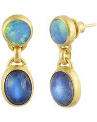 Gurhan - Amulet Hue Double Drop Earrings - Lyst