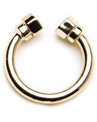 GHADA ALBUAINAIN - Pipe In Yellow Gold Ring - Lyst
