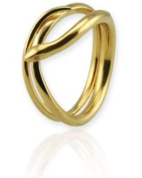 Jana Reinhardt Jewellery - Coiled Snake Ring In Yellow Gold Plated Silver - Lyst