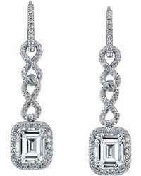 Harry Kotlar - Chantilly Emerald Cut Diamond Drop Earrings - Lyst