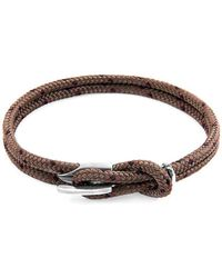 Anchor & Crew - Brown Padstow Silver And Rope Bracelet - Lyst