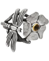 Luke Goldsmith - Silver Bohemian Citrine Dragonfly Ring - Lyst