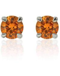 Flawless Jewellery - Aphrodite Earrings - Orange Sapphire - Lyst