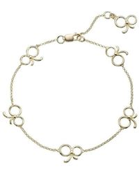 Molly B Couture - 9kt Gold Signature Multi Bow Bracelet - Lyst
