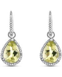 Cosanuova - Lime Quartz Earrings - Lyst