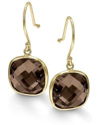 BCOUTURE - Single Smoky Topaz Drop Earrings - Lyst