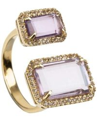 Emily Mortimer Jewellery | Electra Amethyst Ring | Lyst