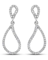 Isaac Westman - Diamond Teardrop Earrings - Lyst