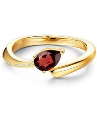 Fei Liu - Yellow Gold Plated Shooting Star Red Garnet Open-end Ring - Lyst