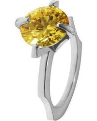 Luke Goldsmith - Yellow Cubic Zirconia Cocktail Ring - Lyst