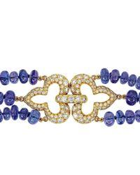 Alexander Jewell - Diamond Fleur De Lys Necklace - Lyst