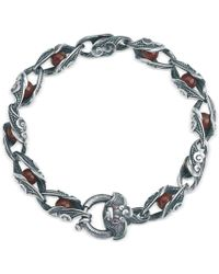 Suciyan - Dragon Knot Red Agate And Ruby Sterling Silver Bracelet - Lyst