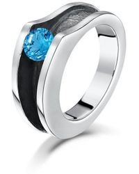 Becky Rowe - Sterling Silver & Blue Topaz Ring | - Lyst