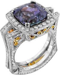 """Dallas Prince Designs - """"eugenio"""" Ring With Rare Unheated Tanzanite And Diamonds - Lyst"""