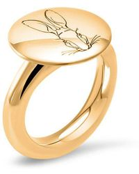 Hargreaves Stockholm - Ethical Fine Jewellery - Bracteate Gold Signet Ring - Lyst