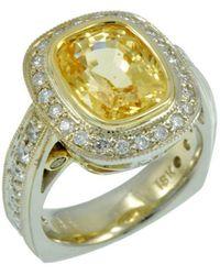 Alex Gulko Custom Jewelry - Yellow Sapphire White Gold Ring - Lyst
