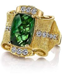 "Dallas Prince Designs - ""pagoda"" Green Tourmaline Ring - Lyst"