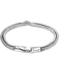 Anchor & Crew | Gallant Double Sail Silver Chain Bracelet | Lyst