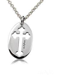 deVos Jewellery - Cut Out Cross Pendant - Lyst