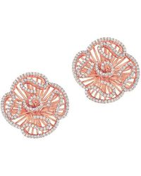 Fei Liu - Cascade Stud Earrings In 18kt Rose Gold Plate - Lyst