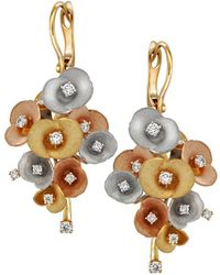 Chekotin Jewellery - Bouquet Of Flowers Eden Earrings - Lyst