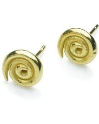 Naomi Tracz Jewellery - Small Spiral Studs 18kt Gold - Lyst