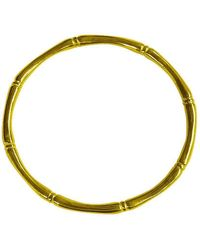 Murkani Jewellery - Gold Bamboo Round Bangle - Lyst