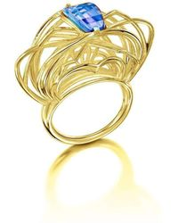Elaine McKay Jewellery - Ricard 14kt Gold Topaz Ring - Lyst