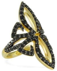 REALM - Domain Vanity Pave Ring - Lyst
