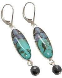 AVA Goldworks - Forget-me-not Opal And Turquoise Earrings - Lyst