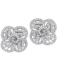 Fei Liu - Cascade Mini Earring Studs In White Rhodium - Lyst