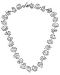 Joseph Lamsin Jewellery - Sterling Silver Rippled Necklace - Lyst