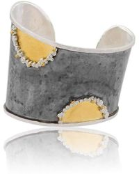 "Lika Behar Collection - Gold And Oxidised Silver ""waveup"" Asymmetric Cuff - Lyst"