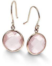 BCOUTURE - Single Rose Quartz Drop Earrings - Lyst