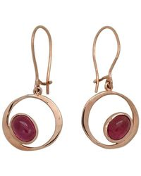 Lainey Papageorge Designs - Rubelite Orbit Earrings - Lyst