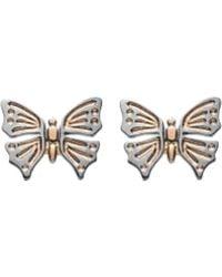 Luke Goldsmith - Rose Gold Butterfly Studs - Lyst