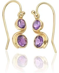 Justin Richardson - Amethyst Infinity Drop Earrings - Lyst