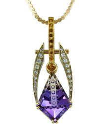 Alex Gulko Custom Jewelry - Ametrine Pendant Yellow And White Gold - Lyst