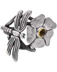 Luke Goldsmith - Silver Bohemian Citrine Dragonfly Ring - Lyst