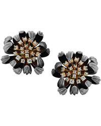Chekotin Jewellery - Gold & Diamond Astra Eden Earrings | - Lyst