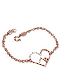 Peak Jewellery - 9kt Rose Gold Love The Mountains Bracelet - Lyst