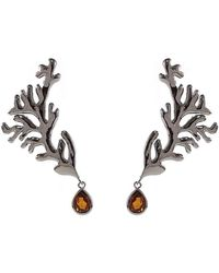 Isa Bagnoli - Dark Coral Earrings - Lyst