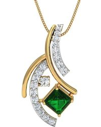 Diamoire Jewels Hand carved 10kt Yellow Gold Pave Pendant With Premium Rubies and Diamonds AAvUS1ak9