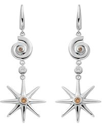 Ayalla Joseph | Star And Shell Earrings White Gold | Lyst