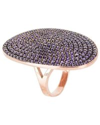 LÁTELITA London - St Tropez Ring Rose Gold Amethyst Zircon - Lyst